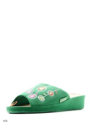 Тапочки TINGO. Цвет: зеленый