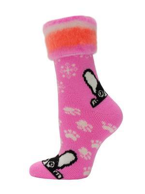 Новогодние носки HOSIERY. Цвет: розовый