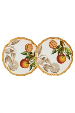 Набор из 2-х десертных тарелок LCS. Цвет: белый, красный