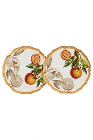 Набор из 2-х десертных тарелок LCS. Цвет: мультиколор