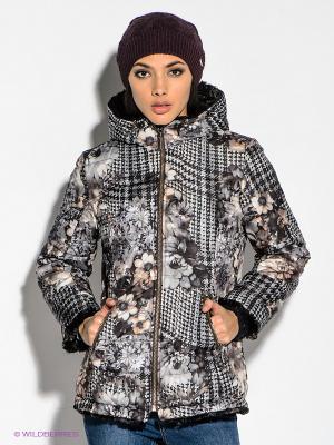 Куртка WEGA. Цвет: темно-серый, бежевый