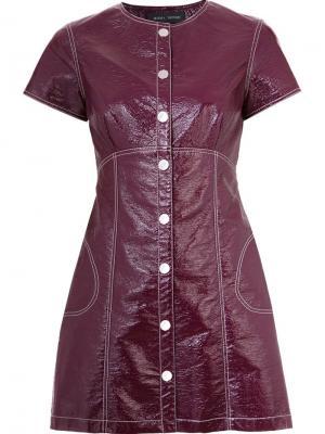 Платье Julienne Misha Nonoo. Цвет: красный