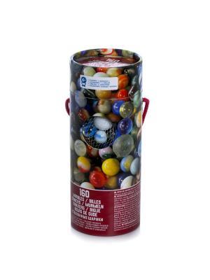Настольная игра Spin Master 160 шариков марблз. Цвет: синий, бордовый, светло-желтый