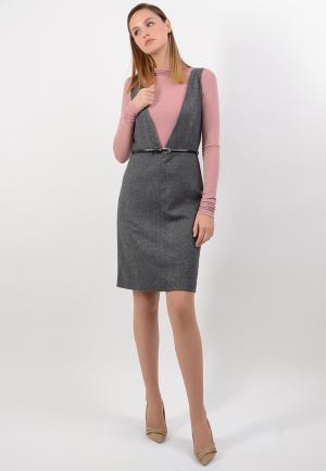 Платье Lino Russo. Цвет: серый