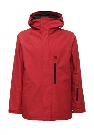 Куртка горнолыжная DC Shoes. Цвет: красный