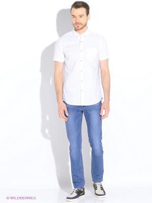 Рубашка S.OLIVER. Цвет: белый, голубой