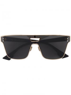 Большие солнцезащитные очки в стиле ретро Diorizon Dior Eyewear. Цвет: металлический