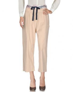 Повседневные брюки SUNO. Цвет: бежевый