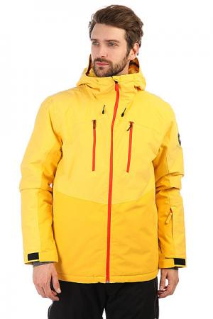 Куртка утепленная  Mission Plus Solar Power Quiksilver. Цвет: желтый