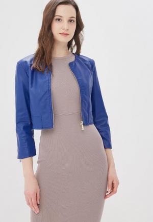 Куртка кожаная Motivi. Цвет: синий