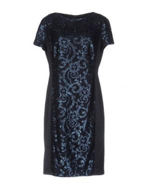 Платье до колена BARBARA SCHWARZER. Цвет: темно-синий