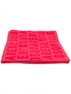 Пляжное полотенце Icon Dsquared2. Цвет: красный