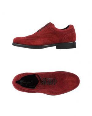 Обувь на шнурках BORGIOLI. Цвет: красный