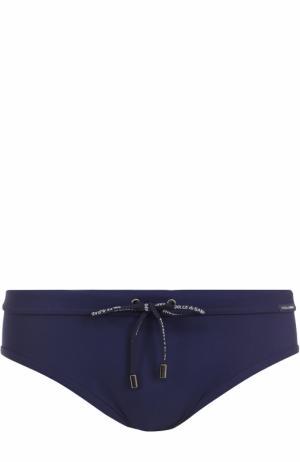 Плавки Dolce & Gabbana. Цвет: темно-синий