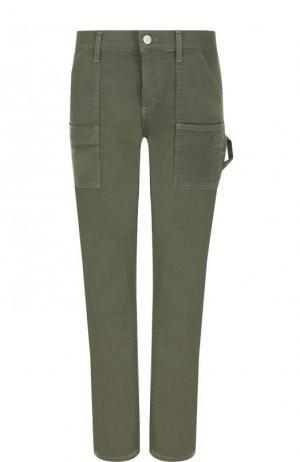 Укороченные однотонные джинсы прямого кроя Citizens Of Humanity. Цвет: хаки