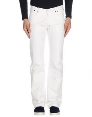 Джинсовые брюки DANIELE ALESSANDRINI. Цвет: белый