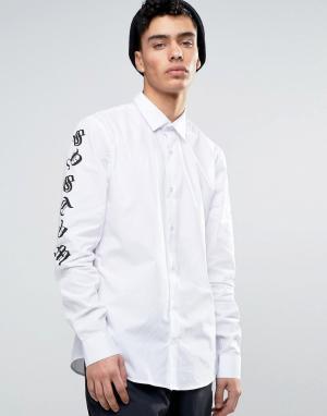 Systvm Рубашка с принтом на рукавах. Цвет: белый