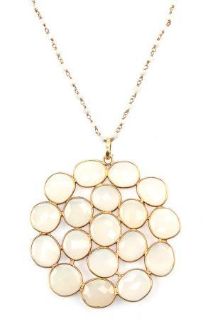 Колье Estrosia. Цвет: золотой, белый