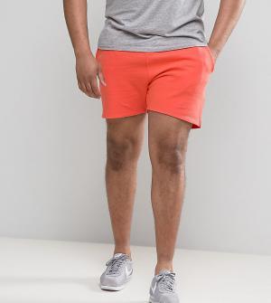 ASOS Оранжевые трикотажные шорты PLUS. Цвет: розовый