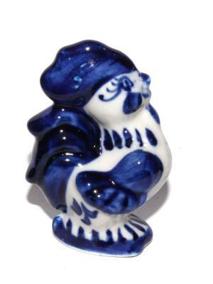 Фарфоровая статуэтка Петушок Lola. Цвет: белый, синий
