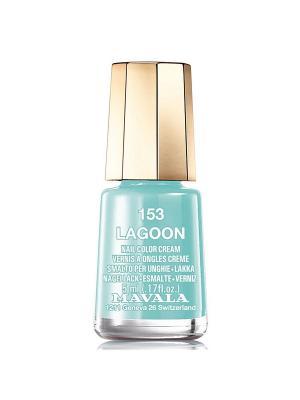 Лак для ногтей тон 153 Lagoon Mavala. Цвет: серо-голубой
