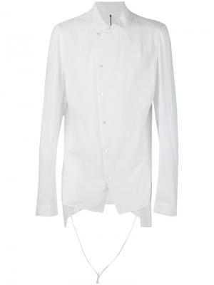 Рубашка с необработанными краями Masnada. Цвет: белый