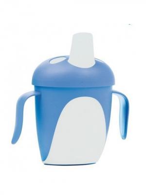 Чашка-непроливайка, 240 мл. Penguins 9м+, цвет: синий Canpol babies. Цвет: синий, белый