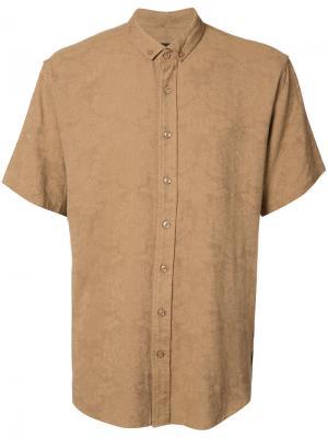 Парчовая рубашка Publish. Цвет: коричневый