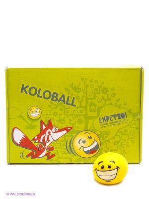 EXPETRO Мяч резиновый Колобол Экспетро. Цвет: желтый