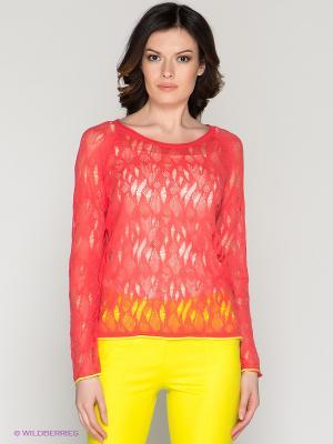 Кофточка O De Mai. Цвет: коралловый, желтый
