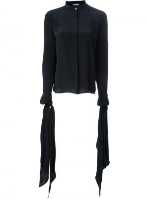 Блузка с манжетами на звязках Dion Lee. Цвет: чёрный