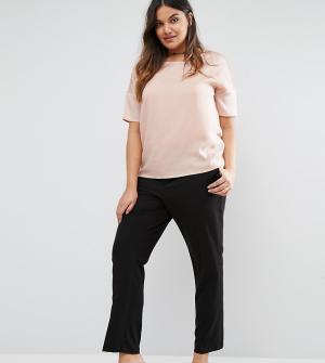 Junarose Приталенные брюки. Цвет: черный