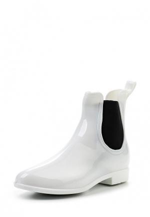 Резиновые ботинки Mon Ami. Цвет: белый