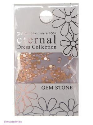 Стразы-камушки для ногтевого дизайна Cветлый сапфир жемчуг 2мм ETERNAL Dress Collection Gem Stone PA presents since 2004. Цвет: золотистый