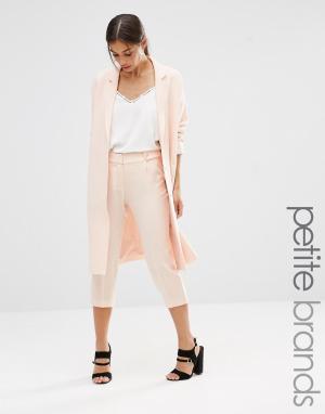 Vero Moda Petite Брюки-галифе из мягкой ткани. Цвет: розовый
