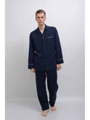 Пижама Гермес-2 мужская LINO RUSSO. Цвет: темно-синий