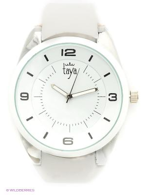 Часы Taya. Цвет: белый, серебристый