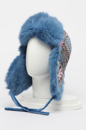 Шапка-ушанка Romax. Цвет: мех светло-голубой