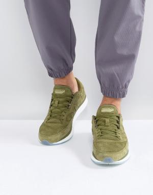 Saucony Зеленые кроссовки Freedom S40001-3. Цвет: зеленый