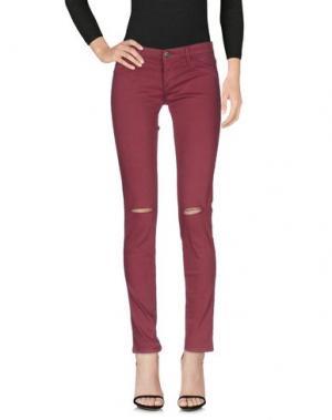 Джинсовые брюки FIFTY FOUR. Цвет: красно-коричневый