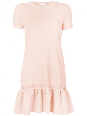 Платье-футболка Jonathan Simkhai. Цвет: жёлтый и оранжевый