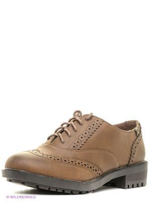 Туфли Refresh. Цвет: серо-коричневый
