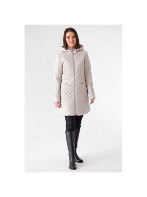 Пальто женское, стеж, утеплитель синтепон DEFREEZE. Цвет: светло-бежевый