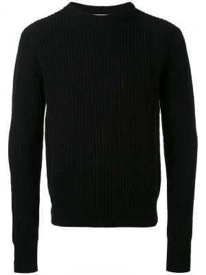 Классический вязаный свитер Études. Цвет: чёрный