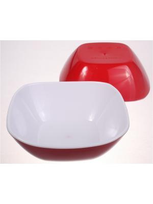 Салатница малая, 270 мл, красная, набор 2 штуки Радужки. Цвет: красный