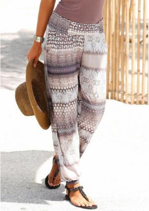 Пляжные брюки Buffalo London. Цвет: с рисунком