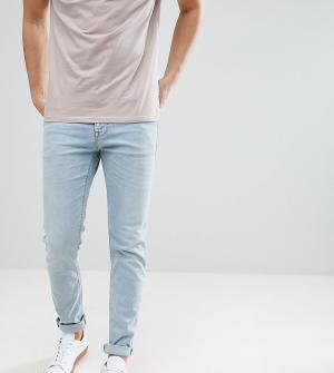 Noak Светло-голубые джинсы скинни. Цвет: синий