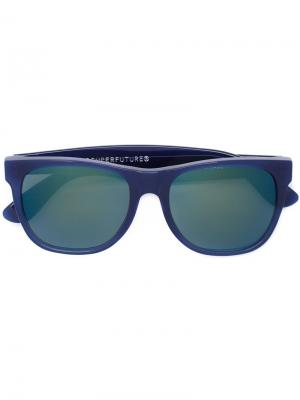 Солнцезащитные очки в квадратной оправе Retrosuperfuture. Цвет: синий