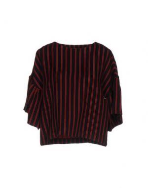 Блузка WEILI ZHENG. Цвет: красный