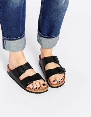 Birkenstock Черные узкие сандалии Arizona. Цвет: черный
